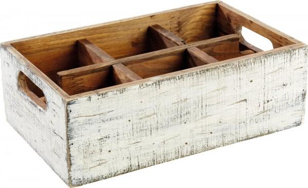 """Tischbox """"Vintage"""" 27x17x10cm, weiß, Pinienholz Pinienholz, weiß. Herausnehmbare"""