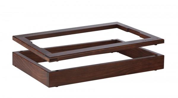 """Rahmenset Aufsatz """"Wood"""" 65+20mm dunkel gebeizt 2er Set"""