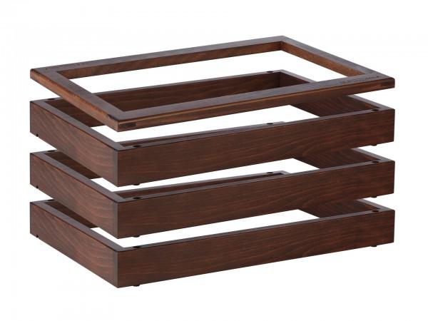 "Rahmenset Wasserbad ""Wood"" 65+20mm dunkel gebeizt 4er Se"
