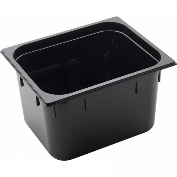 GN Behälter 1/2 Polycarbonat schwarzT: 200mm, 14,4L