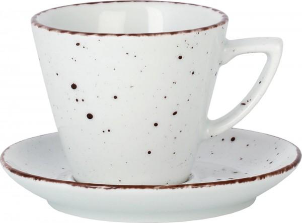 """Tasse Untere Kaffee/Cappuccino """"Granja"""" Ø13,7cm weiß-bra"""