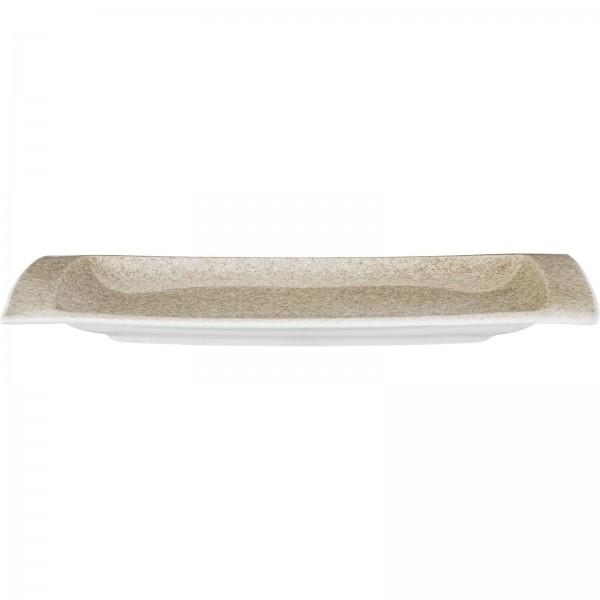 """Shine"" Sahara Platte flach eckig 28x14,5cm VPE 6"