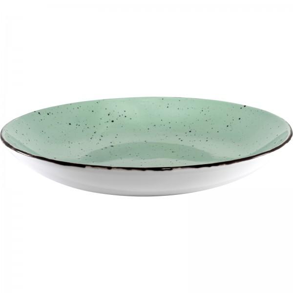 """Granja"" mint-braun Teller tief Ø26cm VPE 6"