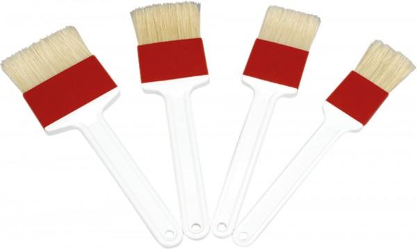 Pinsel Breite 4cm, Länge 24cm, weiß, Naturborsten