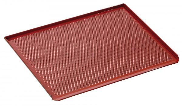 Backblech Aluminium Silikonbeschichtet mit Lochung 43,3x