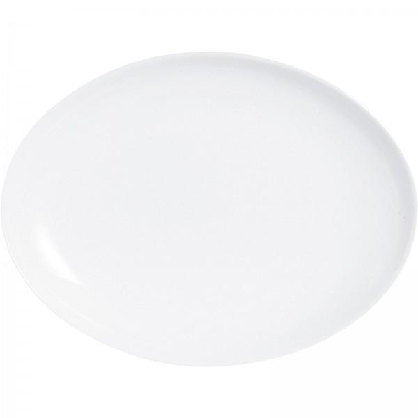 """Hartglasgeschirr """"Evolution"""" weiß VPE 6 Platte flach oval 33x25 cm"""
