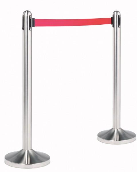 Abgrenzungsständer mit Zugband rot (Fuß+Ständer)