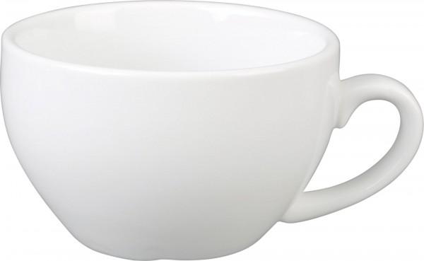 """Tasse obere Cappuccino """"Café"""" 0,34L, weiß, Porzellan, VPE 6"""