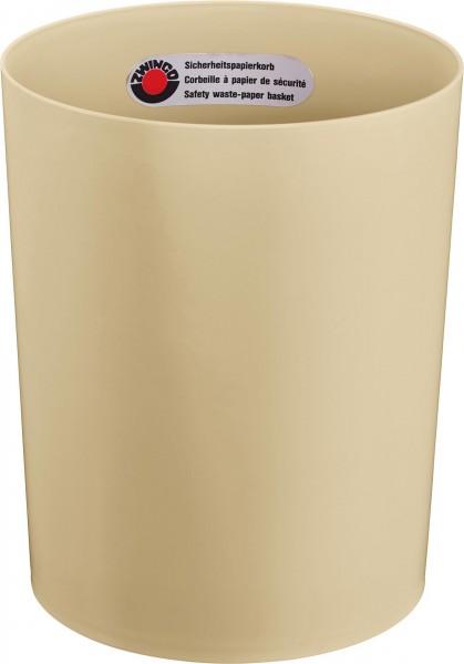 Papierkorb schwer entflammbar 13L Ø25cm H:30cm beige