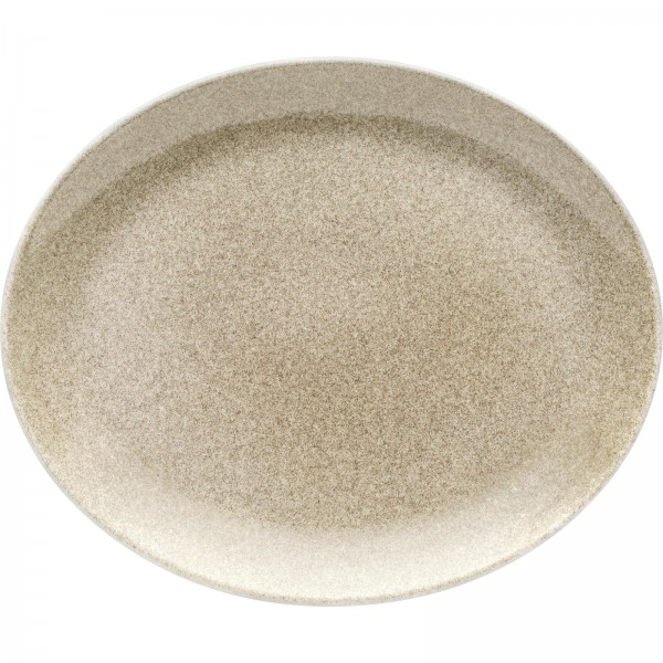 """Shine"" Sahara Platte flach oval 31x25,5cm VPE 6"