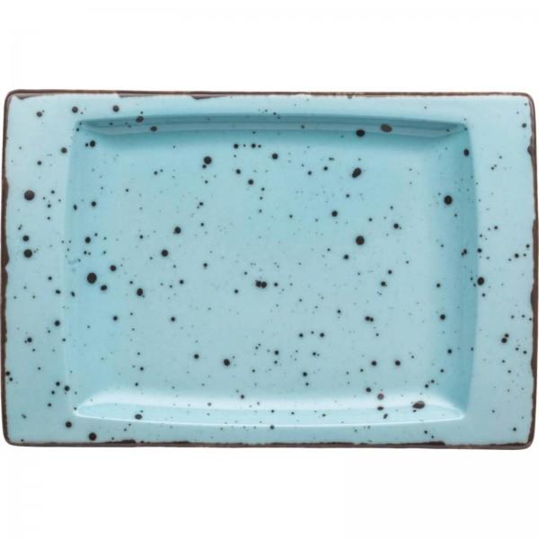 """Granja"" aqua-braun Platte flach eckig 18x18cm VPE 6"