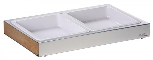 GN Behälter 1/2 x 65mm weiß Melamin 3,40 Liter