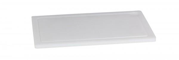 Schneidbrett mit Saftrille 1,5cm weiß zu Gourmet Board GN 1/1