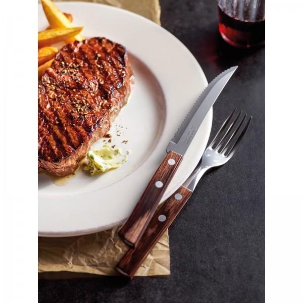 """Steak-/Pizzabesteck """"Churrasco"""" Pizzamesser L: 21cm braun VPE 12"""