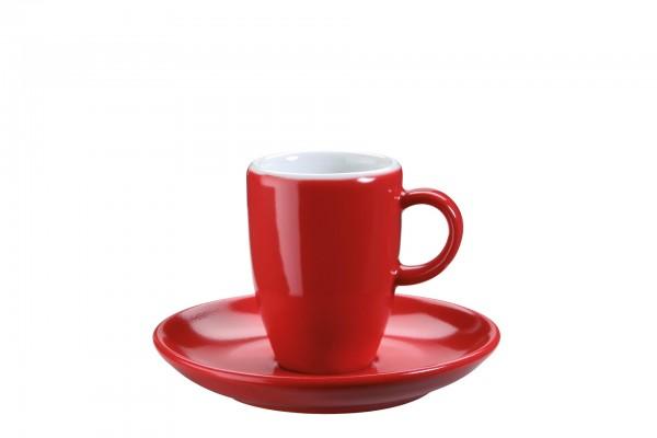 """Tasse Obere Espresso """"Barista"""" 0,07l rot VPE 12Porzellan in verschiedenen Farben"""
