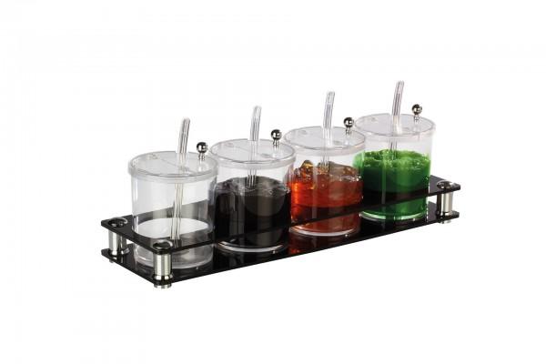 Buffetbar mit 4 Behältern à 0,75L schwarz