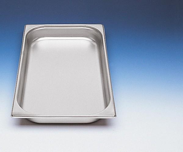 GN-Behälter 1/1 x 100 mm Edelstahl Chrom-Nickel-Stahl 18/8, rostfrei.