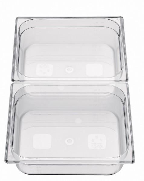 GN Behälter 1/2 x 65mm Polycarbonat 4,7L Polycarbonat, transparent, stapelbar, b