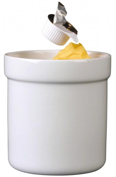 Tischabfallbehälter 12 cm weiß Porzellan