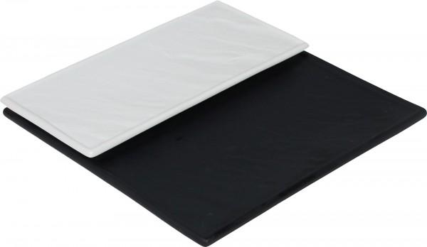 Porzellanplatte im Schieferlook, 26x12cm, schwarz, Porze