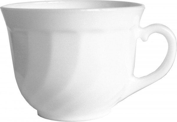 "Tasse Obere Kaffee ""Trianon"" 22cl weiß Glas VPE 6"