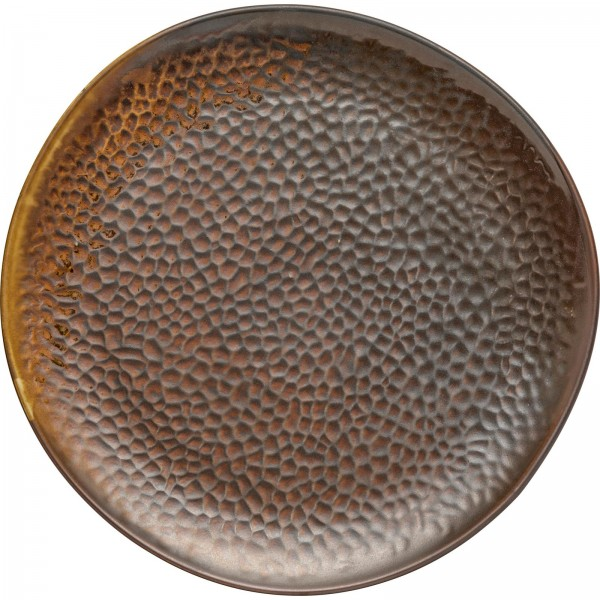 """Rusty"" Teller flach Ø27,6cm braun VPE 4"