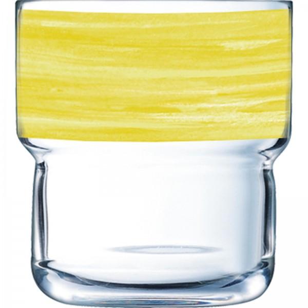 """Glasserie """"Brush"""" Yellow"""