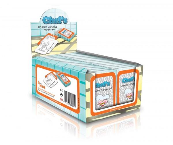 "Mal-Spielkarten ""Restaurant"" 24 Karten 40er Pack"