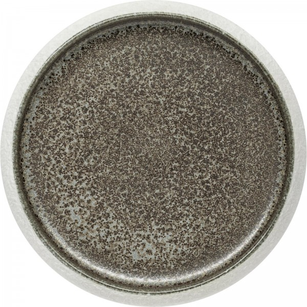 """""""Samoa"""" grau Teller flach Ø23cm VPE 3"""