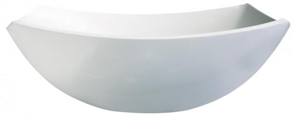 """Schale """"Quadrato"""" 24x24cm weiß Glas VPE 6"""