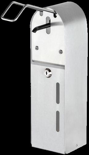 Desinfektionsmittel-Dispenser mit Armhebel,Edelstahl, abschließbar, BxTxH: 99x89