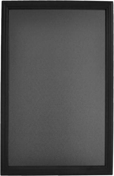 Wandtafel 70x90cm schwarz Mit Hartholzrahmen in der Farbe schwarz. Für Innen und