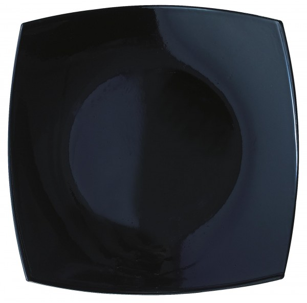 "Teller ""Quadrato"" 27x27cm schwarz Glas VPE 6"