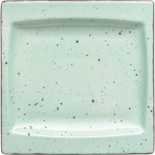 """Granja"" mint-braun Platte flach eckig 18x18cm VPE 6"