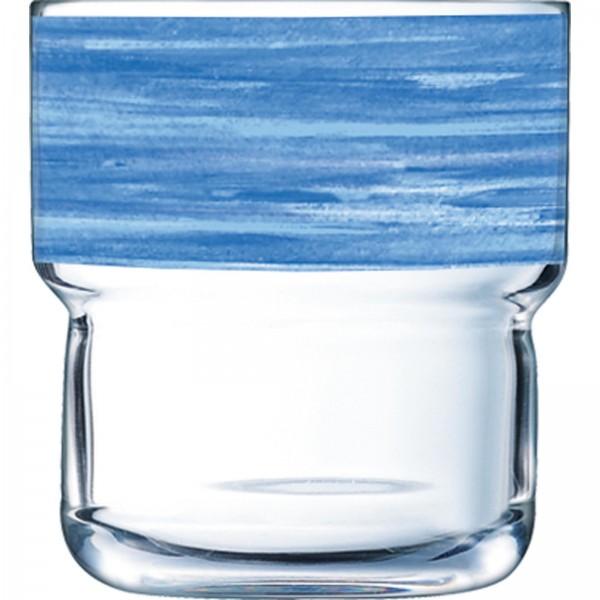 """Glasserie """"Brush"""" Blue"""
