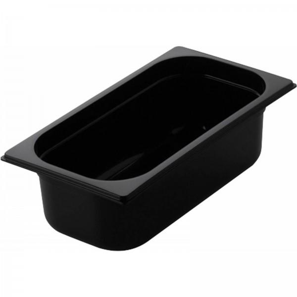 GN Behälter 1/3 Polycarbonat schwarz T: 100mm, 4,5L