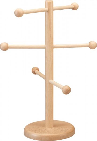 Brezel-/Wurstständer 38cm Buche, natur, mit 6 Armen. Ø Standfuß: 14,5 cm. Nicht