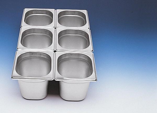 GN Behälter 1/6 x 150 mm Edelstahl Chrom-Nickel-Stahl 18/8, rostfrei.