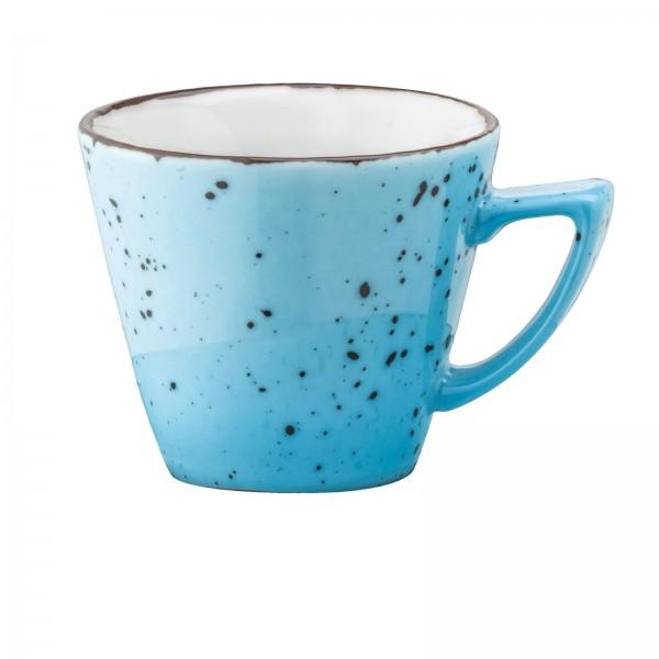 """""""Granja"""" aqua-braun Tasse Obere Kaffee/Cappuccino 0,21L VPE 6"""