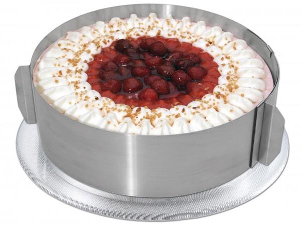 Tortenring mit Skala, H: 8,5cm extra hoch, aus rostfreie