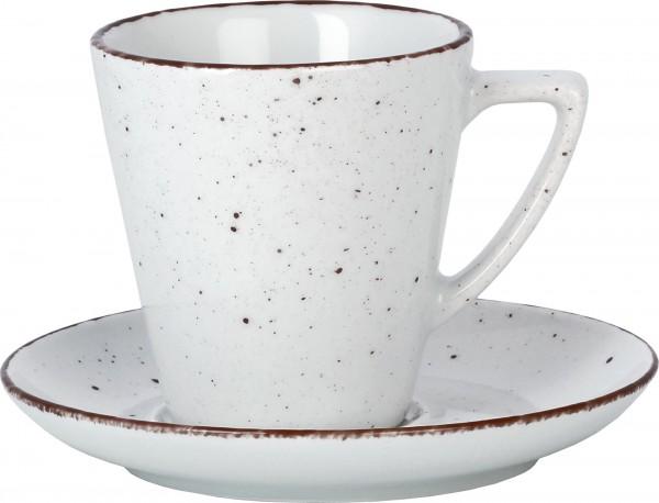 """Tasse Obere Kaffee Grande """"Granja"""" 0,29L weiß-braun VPE"""