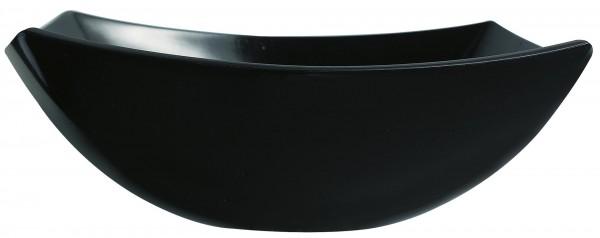 """Schale """"Quadrato"""" 24x24cm schwarz Glas VPE 6"""