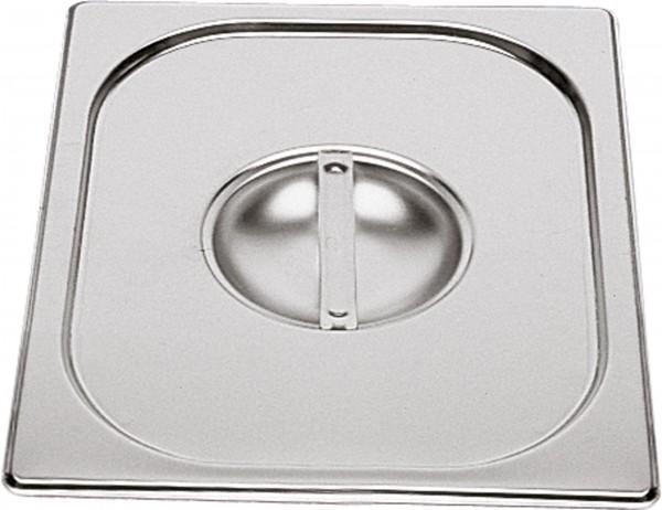 GN Deckel 2/3 ohne Löffelausschnitt Edelstahl Chrom-Nickel-Stahl 18/8, rostfrei.