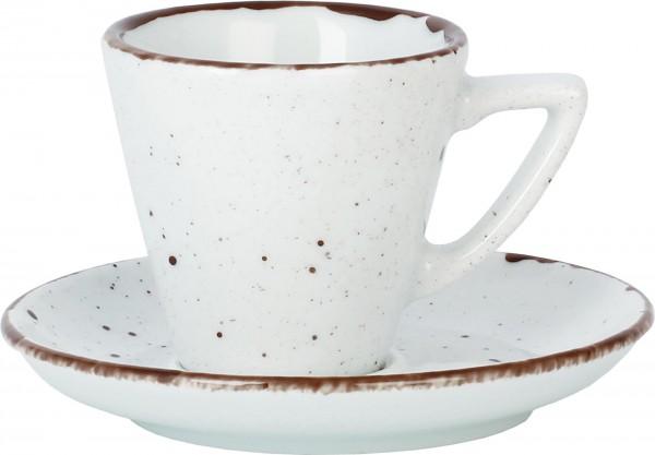 """Tasse Obere Espresso """"Granja"""" 0,08L weiß-braun VPE 6"""