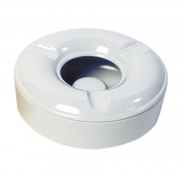 Windascher mit Klemmdeckel weiß