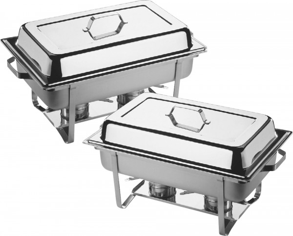 "Chafing Dishes ""Twin Set"" GN 1/1 Edelstahl 2er"