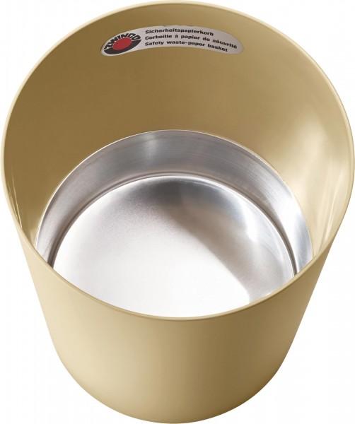Papierkorb schwer entflammbar mit Metallboden 13L Ø25cm