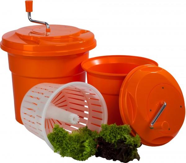 Salatschleuder 12 Liter manuell aus Kunststoff