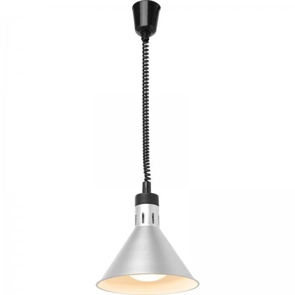 Wärmelampe Konisch, Ø 27,5 cm x Höhe 25,0 cm, Aluminium Silber
