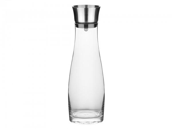 Glaskaraffe mit Edelstahl-Ausgießer und integriertem Sie